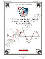 TUYỂN tập 30 câu dễ TRONG đề THI THPT QUỐC GIA môn vật lý sát với bộ ( có ĐAP án)