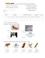 Đề thi học kỳ 2 môn Tiếng Anh lớp 3 trường Tiểu học Phúc Thuận 2, Thái Nguyên năm học 2015 - 2016