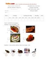 Đề thi học kỳ 2 môn Tiếng Anh lớp 4 trường Tiểu học Phúc Thuận 2, Thái Nguyên năm học 2015 - 2016