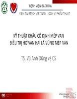 KỸ THUẬT KHÂU CỐ ĐỊNH MÉP VAN ĐIỀU TRỊ HỞ VAN HAI LÁ VÙNG MÉP VAN TS. Vũ Anh Dũng và CS