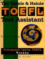 TOEFL test assistant reading