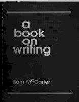 A book on writing  Sam Mc Carter