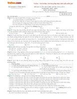 Bộ đề thi thử THPT Quốc gia năm 2016 môn Sinh học - Số 1