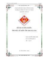 ĐỒ án VI điều KHIỂN  tìm HIỂU về BIẾN tần ABB ACS 355