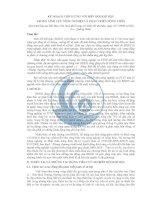 KẾ HOẠCH THÍCH ỨNG VỚI BIẾN ĐỔI KHÍ HẬU TRONG LĨNH VỰC NÔNG NGHIỆP VÀ PHÁT TRIỂN NÔNG THÔN