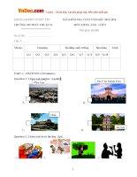 Đề thi học kỳ 2 môn Tiếng Anh lớp 5 trường Tiểu học Phúc Thuận 2, Thái Nguyên năm học 2015 - 2016