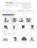 Đề thi học kỳ 2 môn Tiếng Anh lớp 4 trường Tiểu học Đoàn Thị Nghiệp, Tiền Giang năm học 2012 - 2013