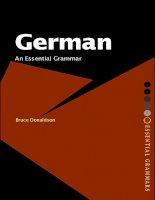 Ngữ pháp tiếng Đức german an essential grammar