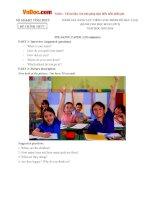 Đề đánh giá năng lực Tiếng Anh lớp 5 trình độ A1 Sở GD-ĐT Vĩnh Phúc năm học 2015 - 2016