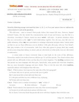 Bộ đề thi thử THPT Quốc gia môn Tiếng Anh năm 2016 trường THPT Phạm Công Bình, Vĩnh Phúc
