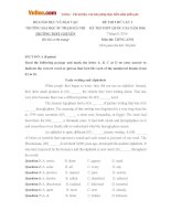 Bộ đề thi thử THPT Quốc gia môn Tiếng Anh năm 2016 trường THPT Chuyên Sư phạm, Hà Nội