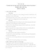 GIÁO ÁN TÍCH HỢP ĐẠT GIẢI NHÌ QUỐC GIA NĂM 2016 CHỦ ĐỀ CÁC BÀI TOÁN VỀ TỈ SỐ PHẦN TRĂM TỶ LỆ XÍCH TOÁN 6
