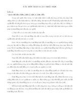 CÂU  HỎI THẢO LUẬN TRIẾT HỌC (TỪ CÂU 1 ĐẾN CÂU 4)