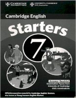 Starters 7 answer booklet