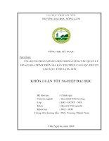Ứng Dụng Phần Mềm Famis Trong Công Tác Quản Lý Hồ Sơ Địa Chính Trên Địa Bàn Thị Trấn Cao Lộc, Huyện Cao Lộc, Tỉnh Lạng Sơn