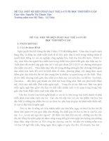 SKKN một số biện pháp dạy trẻ 3 - 4 tuổi đọc thơ diễn cảm