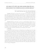 XÂY DỰNG và tổ CHỨC THỰC HIỆN CHƯƠNG TRÌNH đào tạo SONG NGÀNH ở các TRƯỜNG đại học đa NGÀNH HIỆN NAY