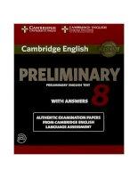 Cambridge preliminary english test 8
