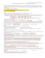 GIẢI CHI TIẾT ĐỀ THI THỬ LẦN 2 - CHUYÊN ĐH VINH