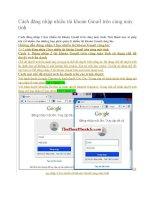 Cách đăng nhập nhiều tài khoản gmail trên cùng máy tính