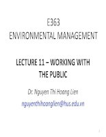 Environment management E363 lecture 11 working with the public