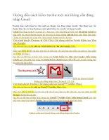 Hướng dẫn cách kiểm tra thư mới mà không cần đăng nhập gmail