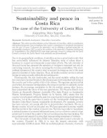 Sustainability and peace in Costa Rica The case of the University of Costa Rica