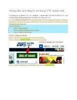 Hướng dẫn cách đăng ký tài khoản VTC nhanh nhất
