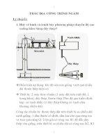 Trắc địa công trình xử lý nước ngầm