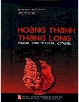 Hoàng thành thăng long phần 1 (NXB văn hóa thông tin 2006)   pgs  ts  tống trưng tín, 127 trang