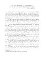 ĐẠI HỌC ĐÔNG DƢƠNG VỚI SỰ HÌNH THÀNH ĐỘI NGŨ TRÍ THỨC MỚI Ở VIỆT NAM ĐẦU THẾ KỶ XX
