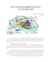 Kết quả quy hoạch không gian ngầm đô thị
