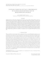 Flexural strength ductility performance of flanged beam sections cast of high strength concrete (p 29 43)