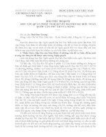 Bài thu hoạch Nghị quyết Đại hội Đảng lần thứ XII
