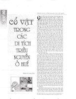 Cổ vật trong các di tích triều Nguyễn ở Huế