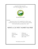 Đánh giá công tác cấp đổi giấy chứng nhận quyền sử dụng đất tại xã văn nho   huyện bá thước   tỉnh thanh hóa, giai đoạn 2011 – 2014