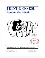 Print  go ESL Reading worksheets book 3