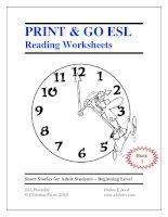 Print  go ESL Reading worksheets book 1