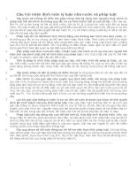Câu hỏi nhận định môn lý luận nhà nước và pháp luật