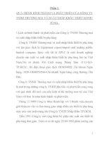 THỰC TRẠNG của QUÁ TRÌNH KINH DOANH và tài sản cố ĐỊNH hữu HÌNH của CÔNG TY TNHH THƯƠNG mại và XUẤT NHẬP KHẨU THIẾT bị PHỤ TÙNG