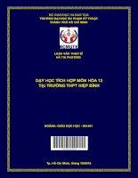 Dạy học tích hợp môn hóa 12 tại trường THPT hiệp bình