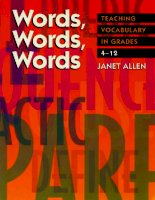 Words, words, words teaching vocabulary in grades 4 to 12
