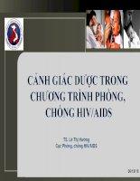 CẢNH GIÁC DƯỢC TRONG CHƯƠNG TRÌNH PHÒNG, CHỐNG HIV/AIDS