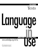 Language in use beginner tests ( Bài kiểm tra tiếng anh cho người mới bắt đầu )
