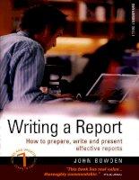 HOT Writing a report ( Kỹ năng viết báo cáo )