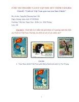 """CUỘC THI tìm HIỂU và sưu tập TEM  bưu CHÍNH năm 2016 chủ đề """"tuổi trẻ việt nam qua con tem bưu chính"""""""