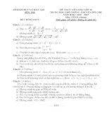 Đề thi tuyển sinh lớp 10 môn toán chuyên(đề chung) tỉnh Bến tre năm học 2016 - 2017(có đáp án)