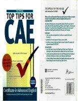 Top tips for CAE ( Tài liệu CAE hay )