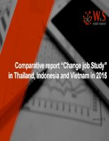 báo cáo về change job study ở Indonesia, Thái lan, Việt nam năm 2015