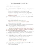 CÂU HỎI TRẮC NGHIỆM VÀ BÀI TẬP (CÓ BÀI GIẢI) VỀ THUẾ TIÊU THỤ ĐẶC BIỆT